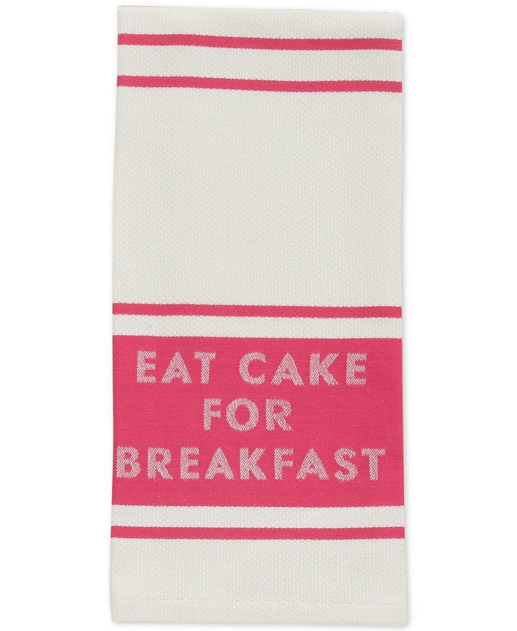 Eat cake for breakfast dishtowel by Kate Spade