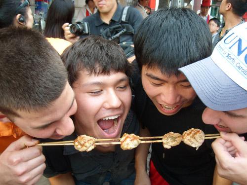 People eating sheep in Beijing