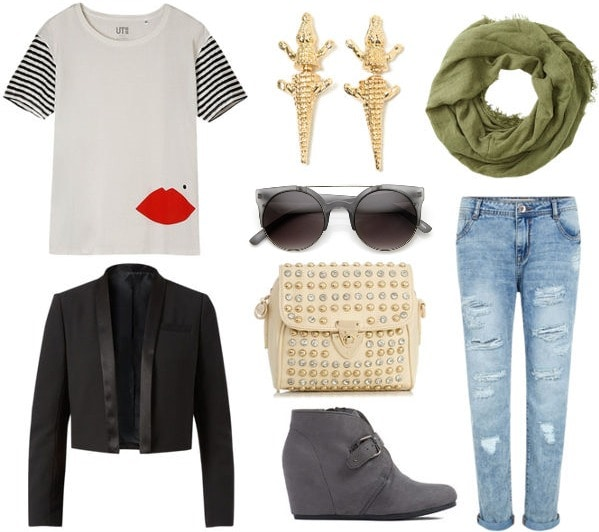 Eclectic glam outfit