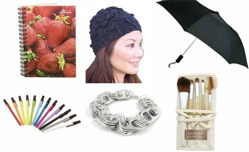 Eco-friendly hats, jewelry, makeup, and accessories