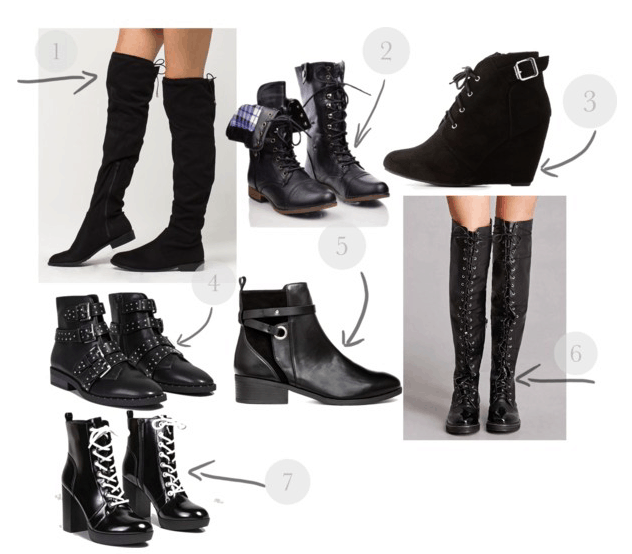 How to be edgy: Seven different pairs of black boots of varying heights