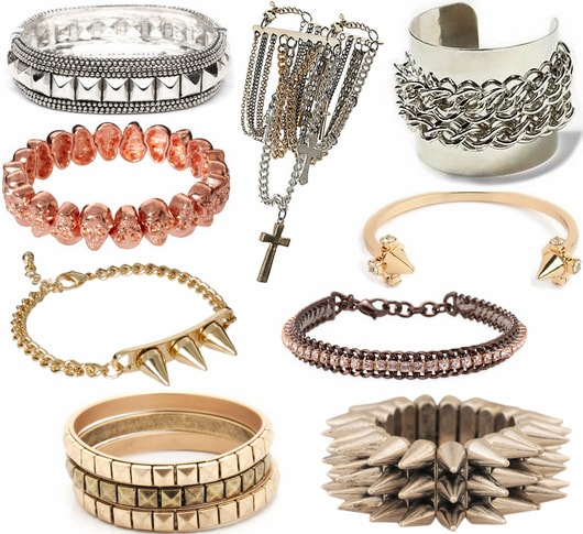 edgy bracelets fall 2012 jewelry trend