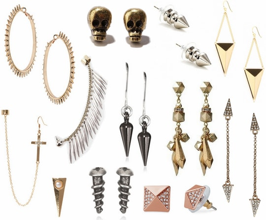 edgy earrings fall 2012 jewelry trend