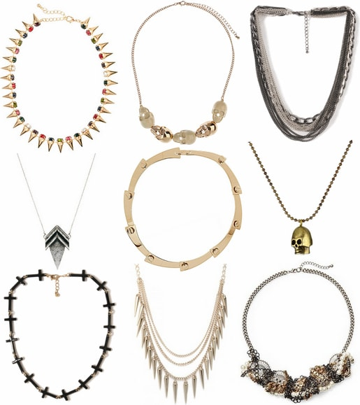 edgy necklaces fall 2012 jewelry trend