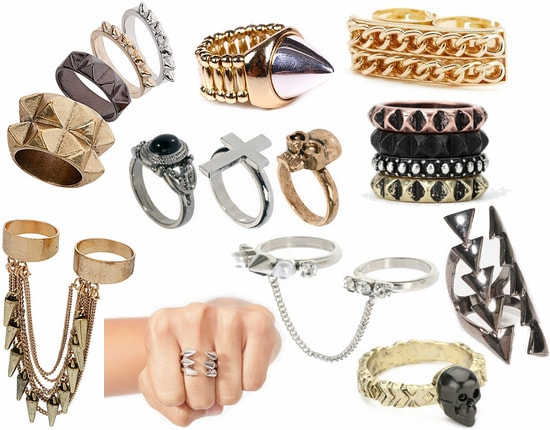 edgy rings fall 2012 jewelry trend