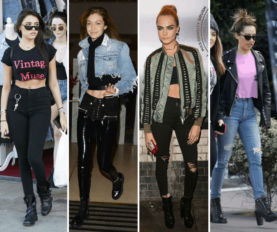 Edgy style celebrities: Madison Beer, Gigi Hadid, Cara Delevingne, Ashley Tisdale