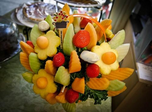 Edible arrangement - fruit in the shape of a bouquet