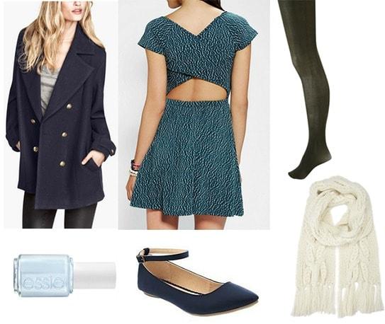 Egon schiele blue dress outfit