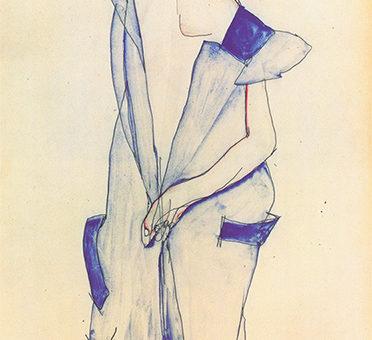 Egon schiele standing girl