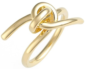 Elizabeth and James gold knot ring