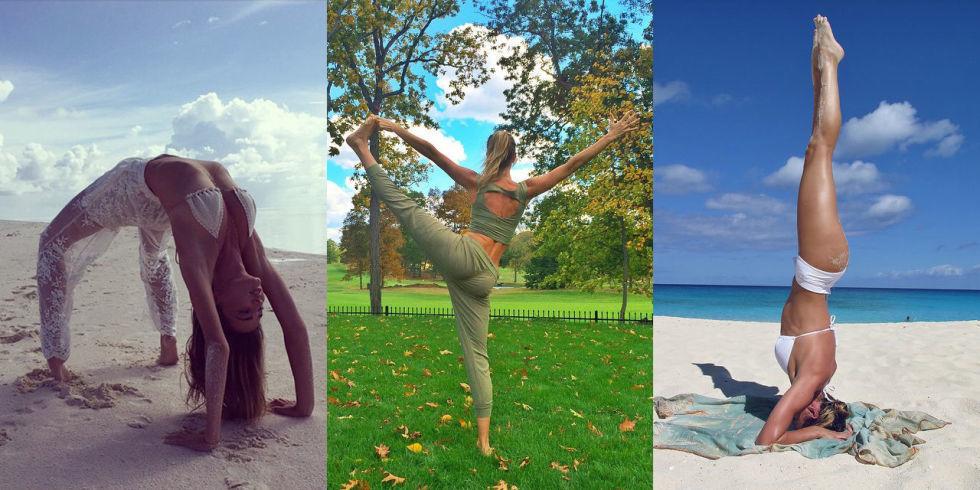 elle yoga pose