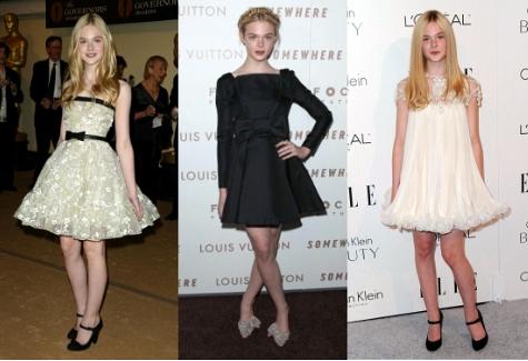 Elle Fanning Full Skirt Outfits