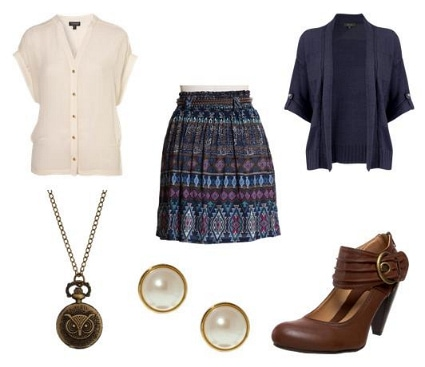 Elle Fanning School Girl Inspired Outfit