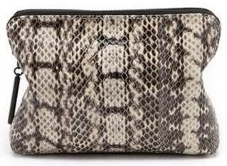 snakeskin makeup bag