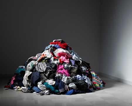 Elle pile of clothing