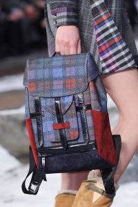 Elle runway plaid backpack