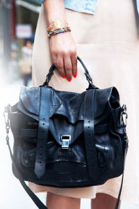 Elle street style black school bag