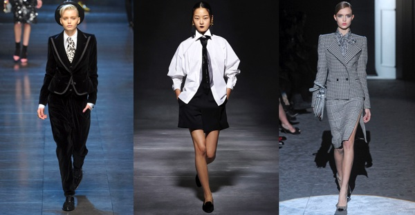 Elle Suit Collage Fall Runway