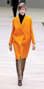 Elle yellow coat runway