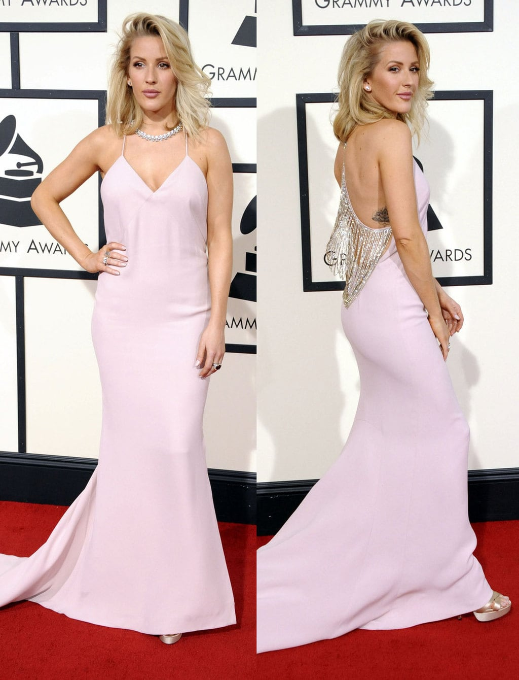 Ellie Goulding in Stella McCartney at the 2016 Grammy Awards