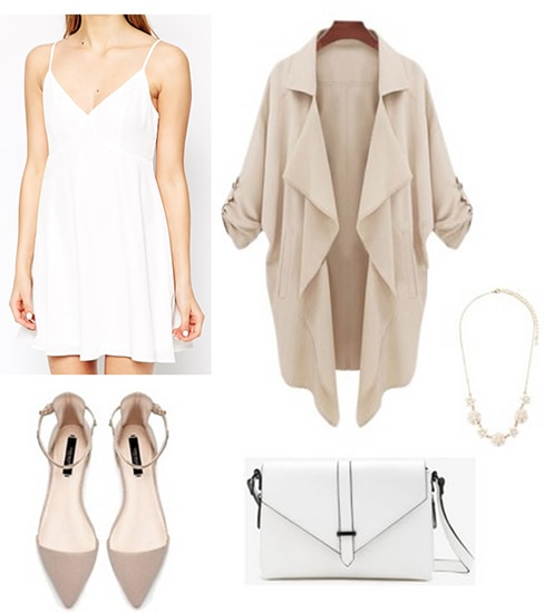 White dress outfit inspired by Ellie Goulding