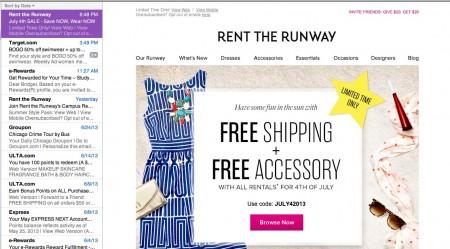Email mailbox screenshot
