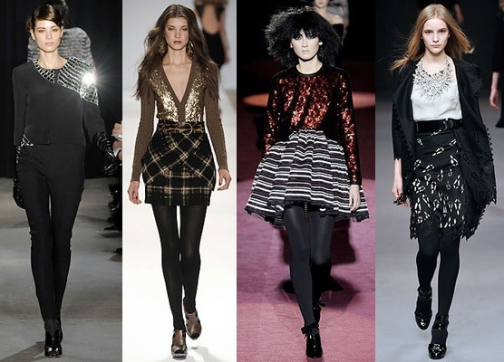 Sequins and embellishment for fall 2009