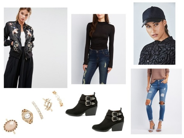 embellished jacket day outfit