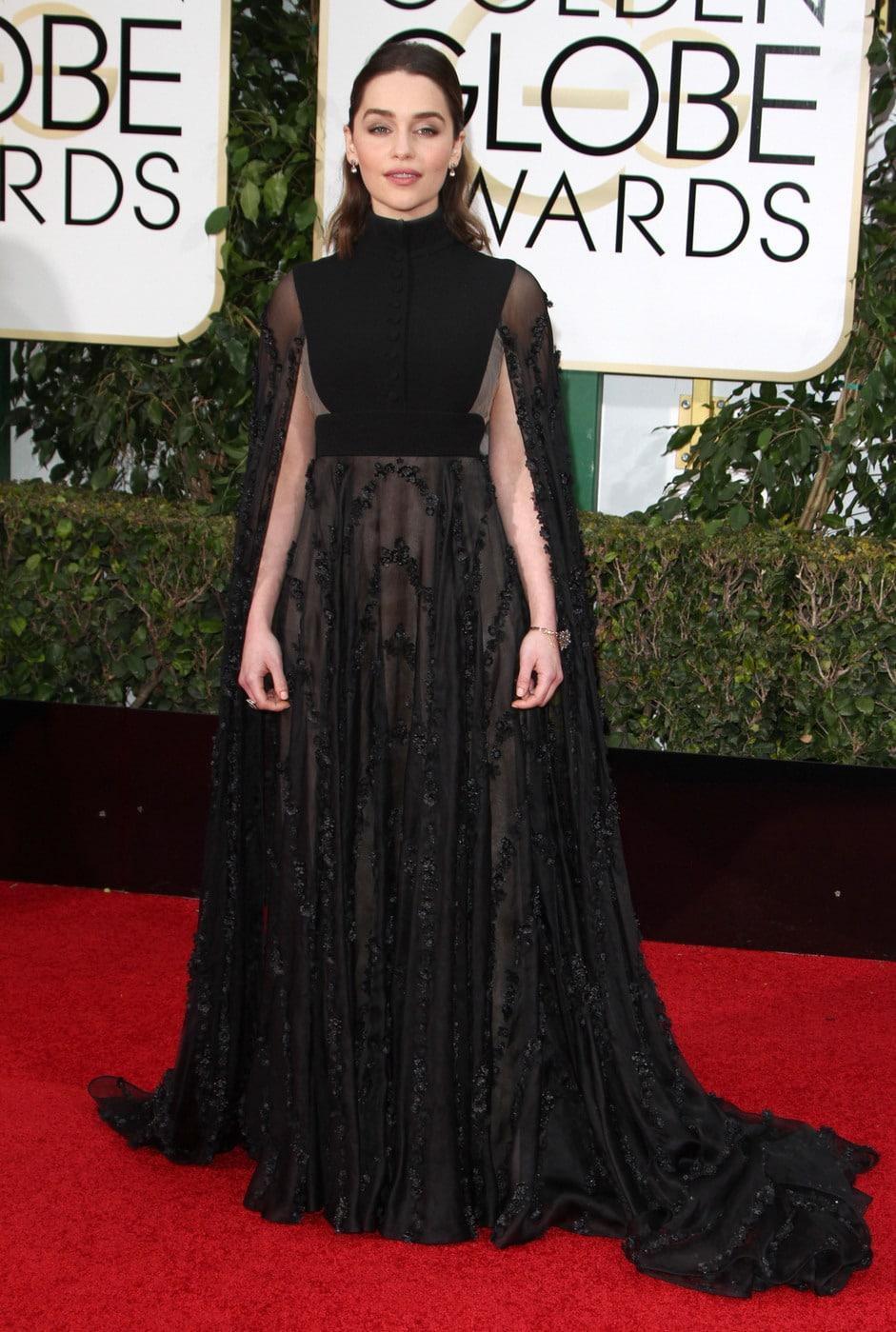 Emilia Clarke at the 2016 Golden Globes