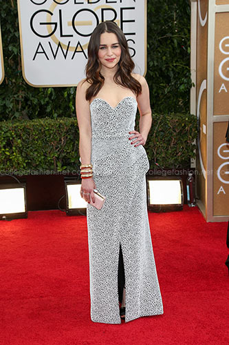 Emilia Clarke in Proenza Schouler at the 2014 Golden Globes