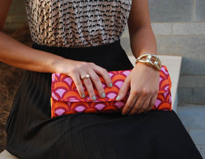 Emily - Bright Clutch and Accessories.