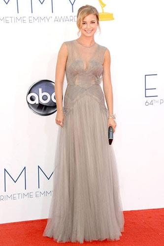Emily VanCamp in J. Mendel at the 2012 Emmy Awards
