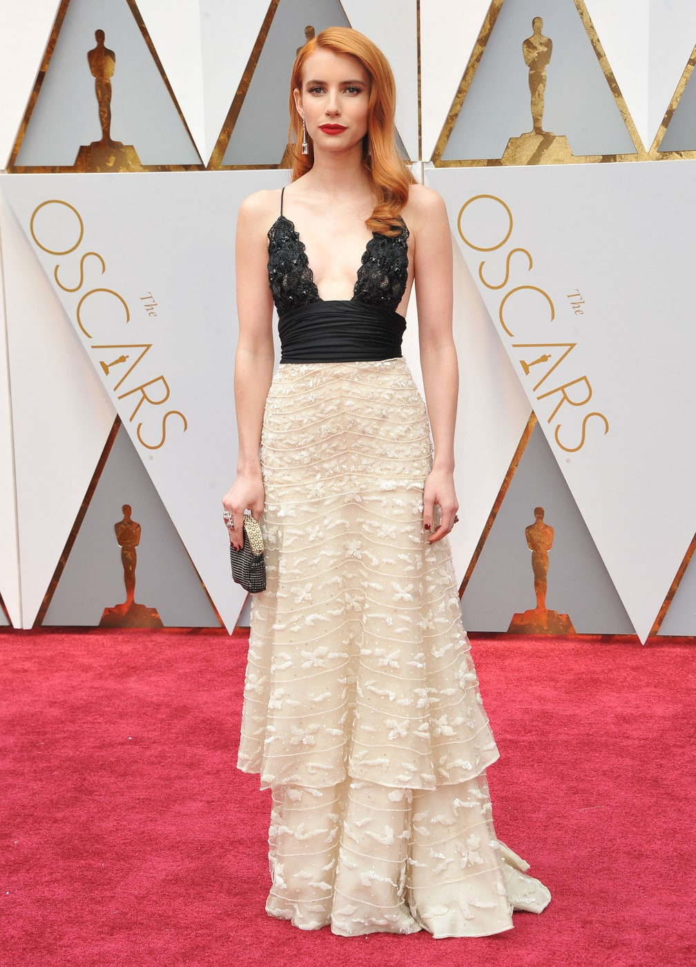 Emma Roberts in Vintage Armani at the 2017 Oscars