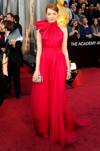 Emma Stone in Giambattista Valli at the 2012 Academy Awards