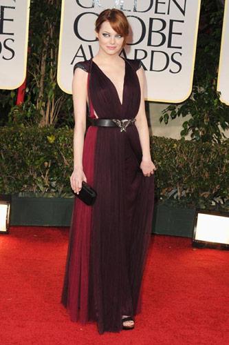 Emma Stone in Lanvin at the 2012 Golden Globe Awards