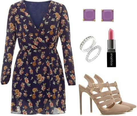 Emma Stone floral dress outfit inspiration