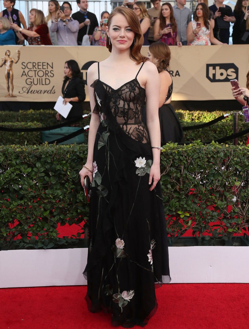 Emma Stone in Alexander McQueen at the 2017 SAG Awards
