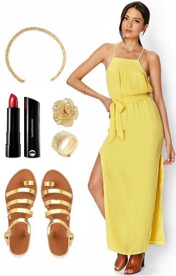 Emma Stone yellow dress inspired look