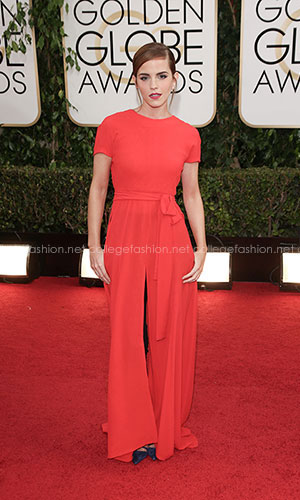 Emma Watson in Christian Dior Couture at the 2014 Golden Globes
