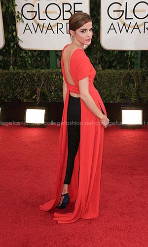Emma watson golden globes dress backwards