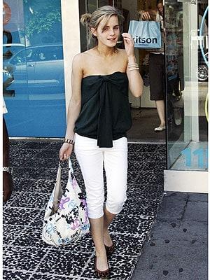 Emma Watson in white pants