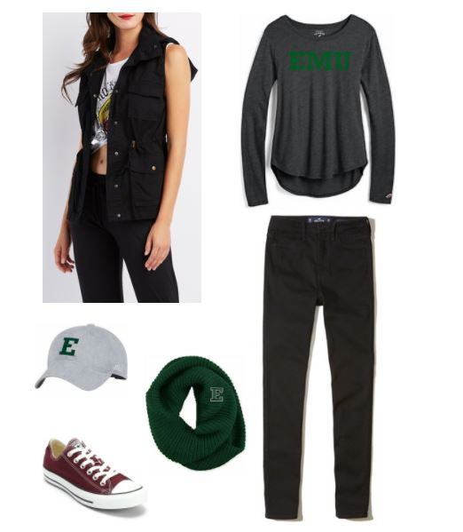Eastern Michigan University tailgating outfit