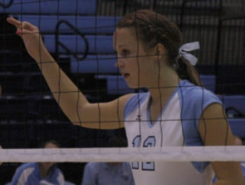 A Member of Columbia University's Volleyball Team Wears a Side French Braid