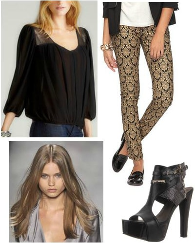 Erin fetherston fall 2012 inspired outfit 2