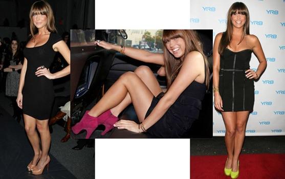 Erin Lucas wearing little black dresses