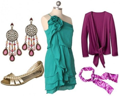 Green and purple outfit inspired by Esmerelda from the Hunchback of Notre Dame