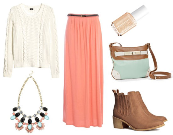Essie resort maxi skirt sweater