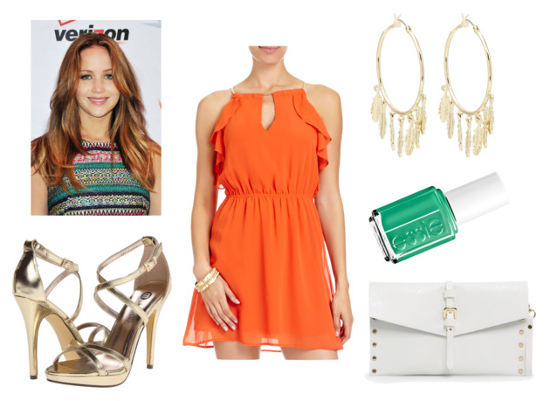 Essie summer orange dress