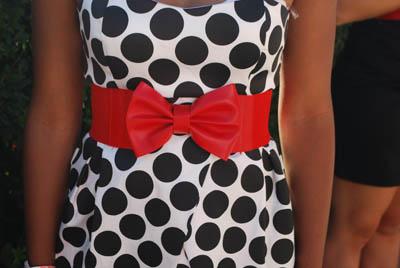 Evan - Polka Dot Dress and Bow Belt