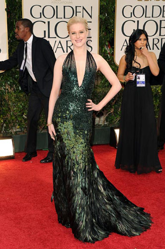 Evan Rachel Wood in Gucci Premiere at the 2012 Golden Globe Awards
